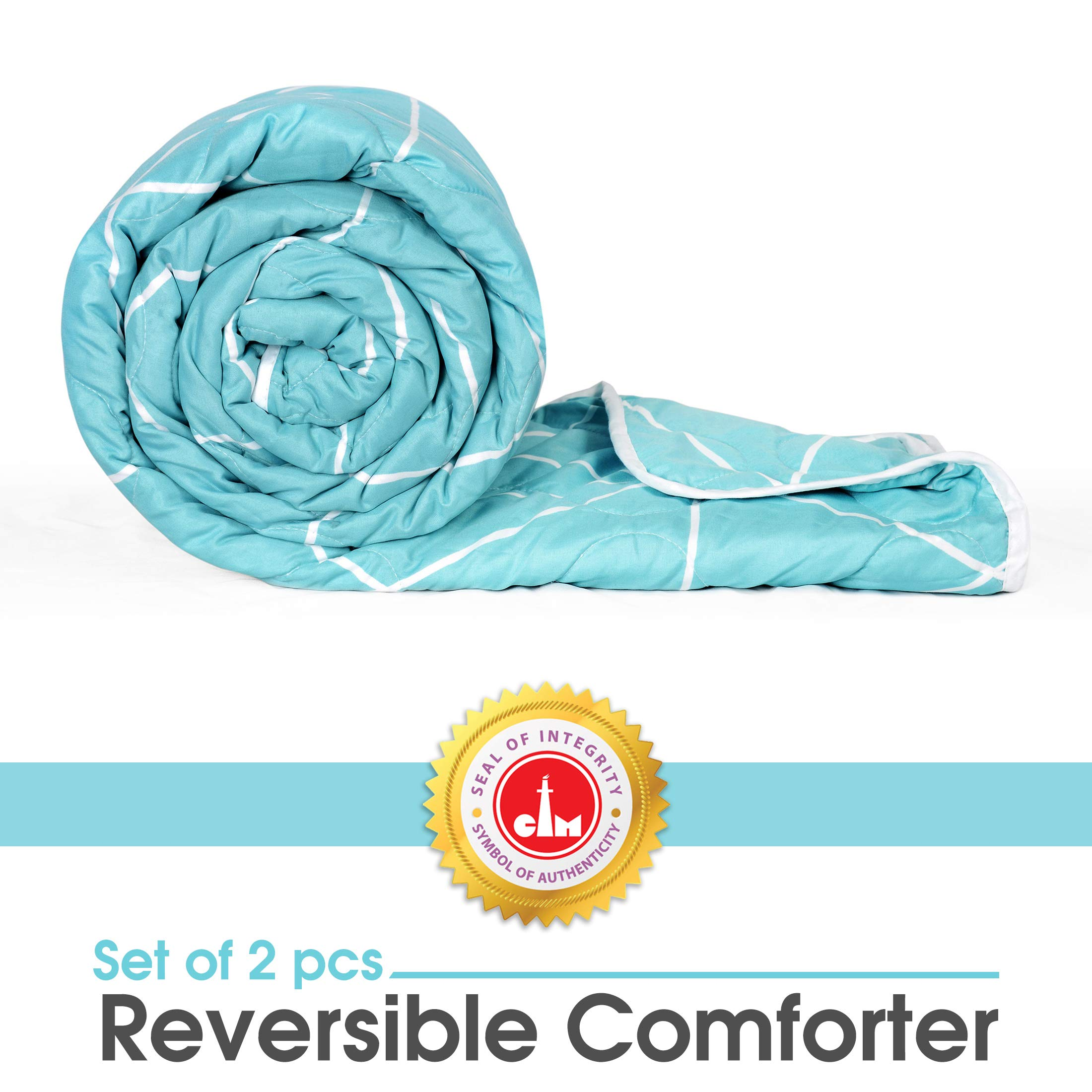 Divine Casa Microfibre Comforter/Blanket/Quilt/Duvet Lightweight, All Weather Single Comforter, Abstract-Sky Blue (B07ZZWWK2S) Amazon Price History, Amazon Price Tracker