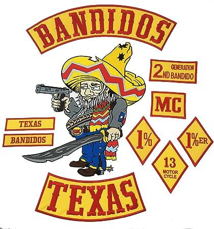 05eb152630d Amazon.com  Hot Sale 10pcs Set BANDIDOS TEXAS MC Patch Embroidered ...