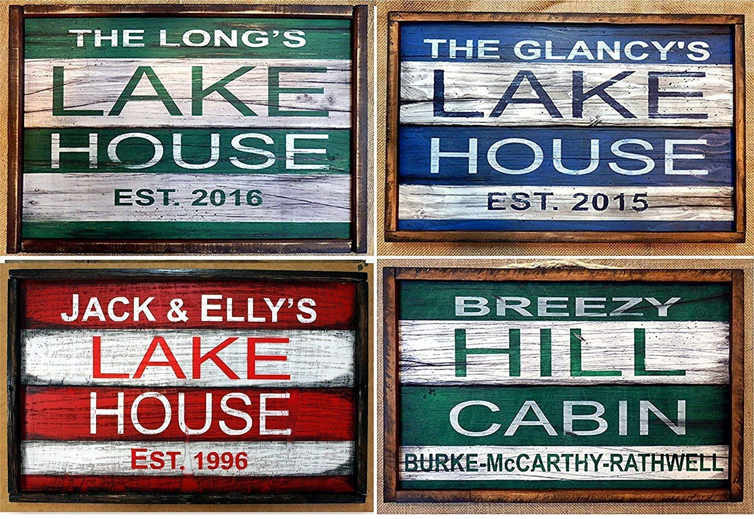 Personalized LAKE HOUSE decor | Cabin decor | Rustic wooden signs | Personalized gifts | Handcrafted, Size: 20'x13' Size: 20x13
