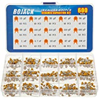 BOJACK 15 värden 600 st keramisk kondensator sortiment kit kondensatorer från 10pf till 100nF i en låda