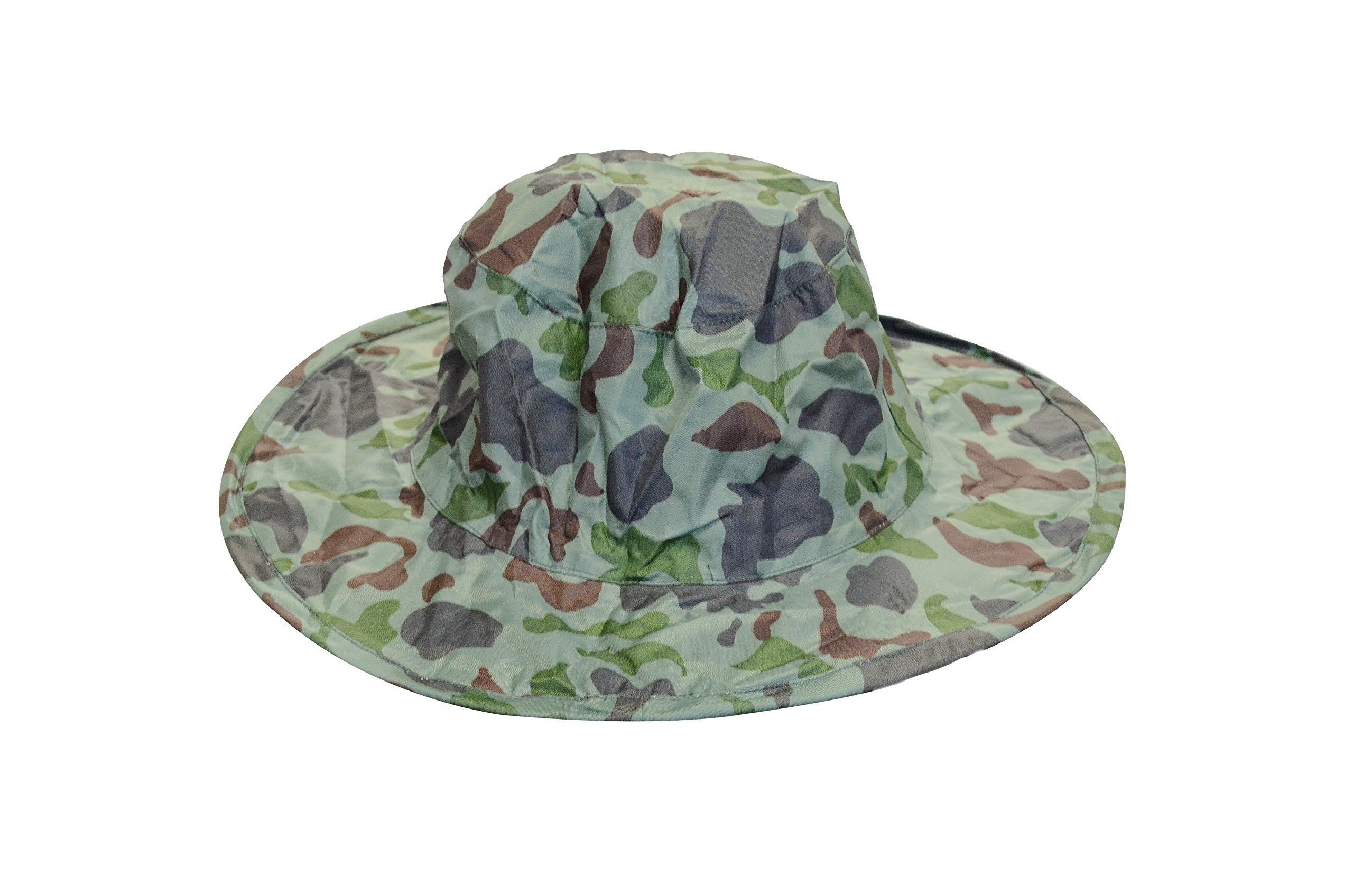 Twist-and-Fold Rain Hat, Unisex, 13 in diameter brim, Camouflage