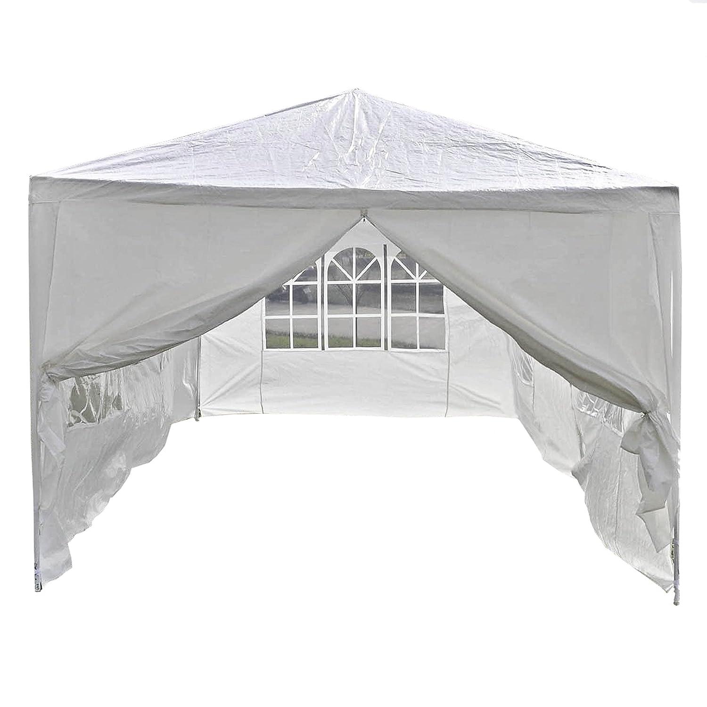fa8d4279ae9 Amazon.com  ALEKO APT20X10GAZEBO Outdoor Event Canopy Tent Wedding Party 20  x 10 x 8.5 Feet White  Sports   Outdoors