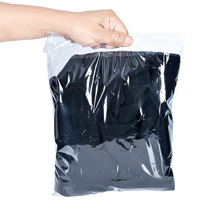 Retail Supply Co Clear Poly Bags with Suffocation Warning - Multiple Size Options Available - (11x14 Resealable)