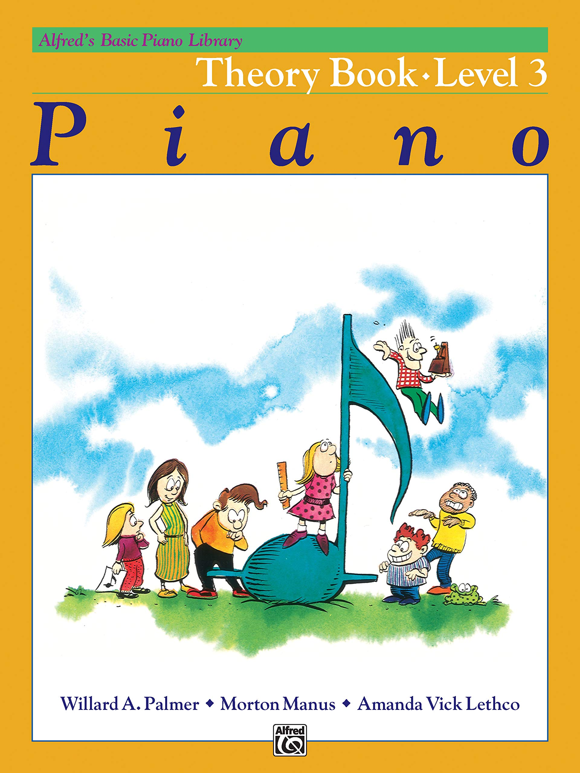 ALFRED/'S BASIC PIANO LIBRARY COURSE THEORY LEVEL 3 MUSIC BOOK BRAND NEW ON SALE!