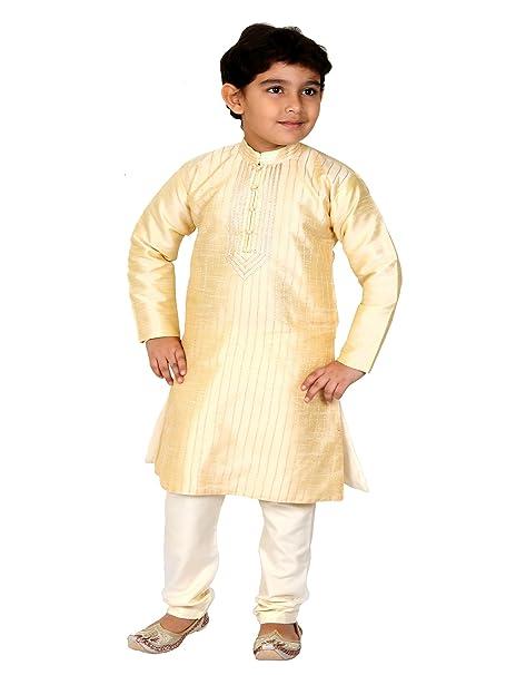 Chicos Adolescente Kurta Pijama Indio Paquistaní Niños Sherwani Traje Shalwar Kameez - (KP-07TW