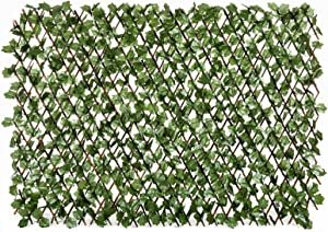 DOEWORKS Expandable Fence Privacy Screen for Balcony Patio Outdoor, Faux Ivy Fencing Panel for Backdrop Garden Backyard Home Decorations - 2PACK