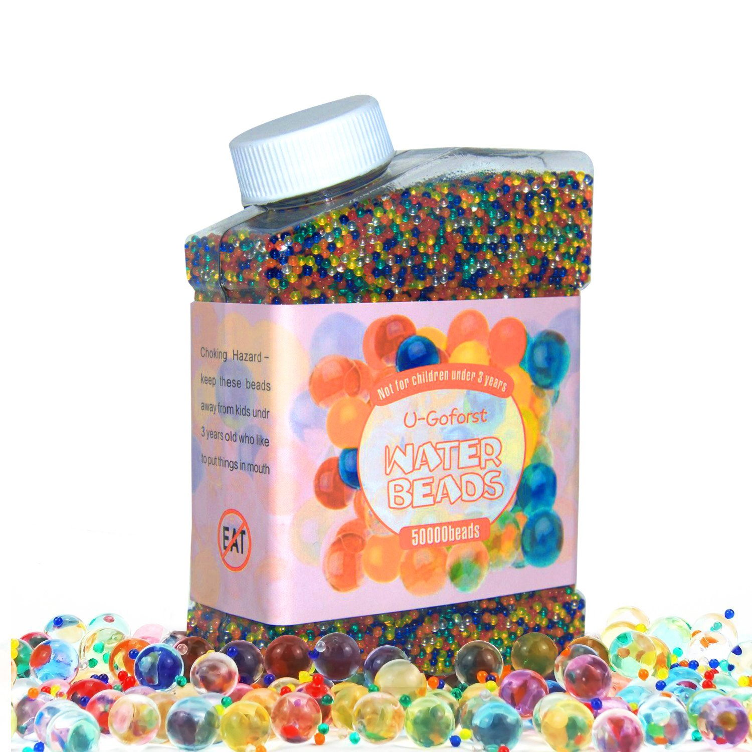 Shop amazon vase fillers water beads 50000 beads rainbow mix kids water gel orbeez beads jelly water reviewsmspy