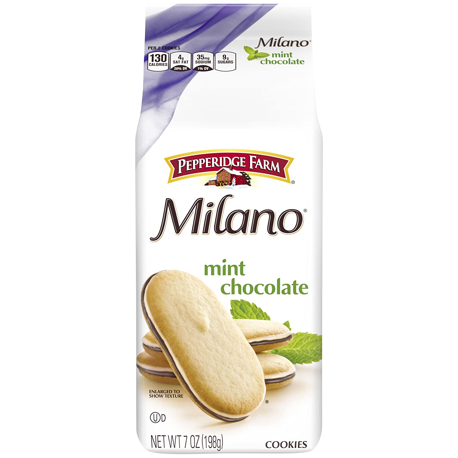Pepperidge Farm Milano Mint Cookies, 7 Ounce Bag, Pack of 3