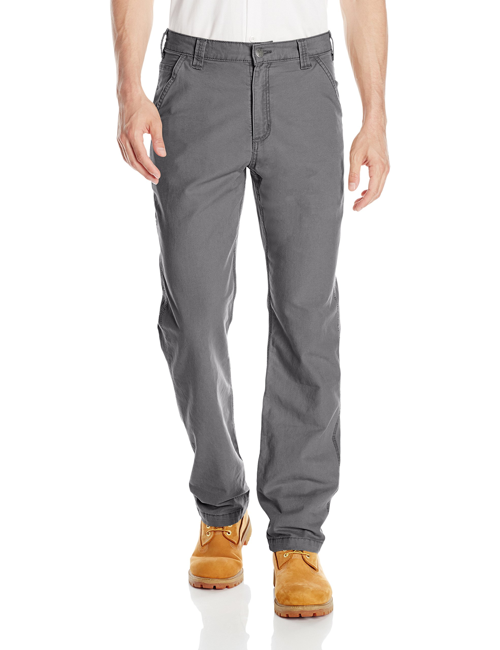 Carhartt Men's Rugged Flex Rigby Dungaree Pant, Gravel, 36W x 32L by Carhartt