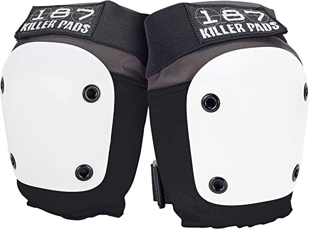 187 Killer Pads Fly Knee Pad, Grey / White, Large