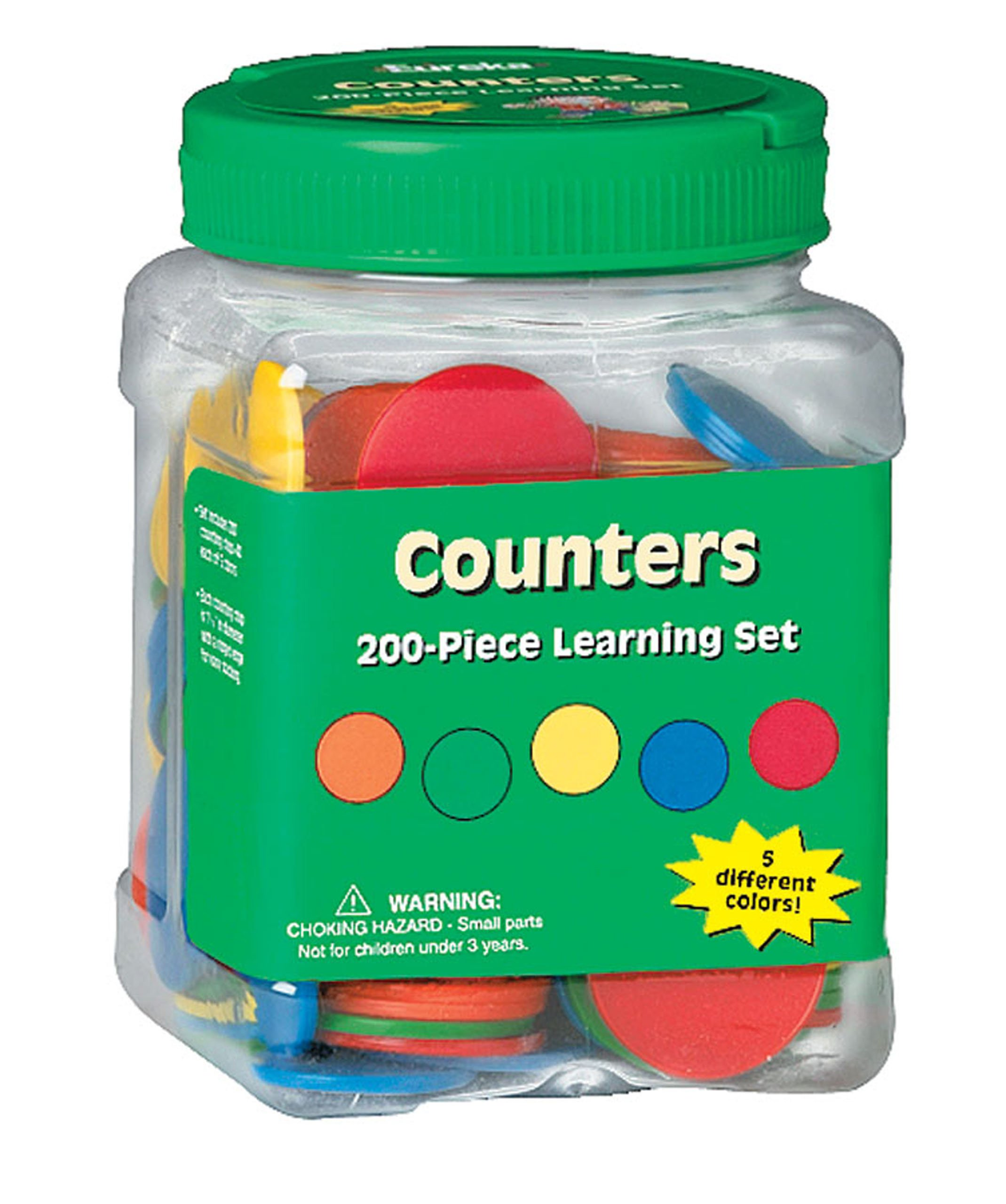 Eureka Tub Of Counters, 200 Counters in 3 3/4'' x 5 1/2'' x 3 3/4'' Tub