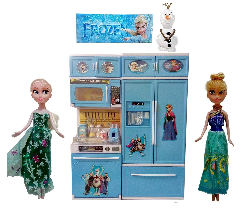 Buy Frozen Modern Kitchen Set - With Frozen Dolls Elsa & Anna + ...