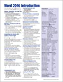 Microsoft Word 2016 Introduction Quick Reference Guide - Windows Version (Cheat Sheet of Instructions, Tips & Shortcuts - Laminated Card)