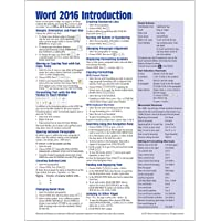 Microsoft Word 2016 Introduction Quick Reference Guide - Windows Version (Cheat Sheet of Instructions, Tips & Shortcuts…