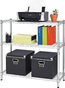 Alera ALE Residential Wire Shelving, Three-Shelf, 36w x 14d x 36h, Silver