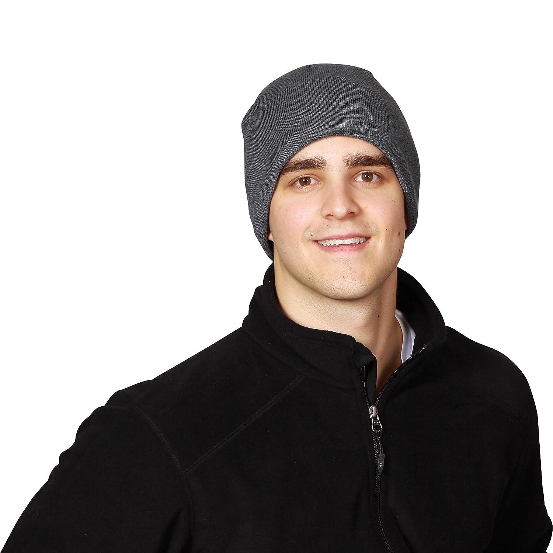 Turtle Fur Mens Solid Midweight Merino Wool Beanie
