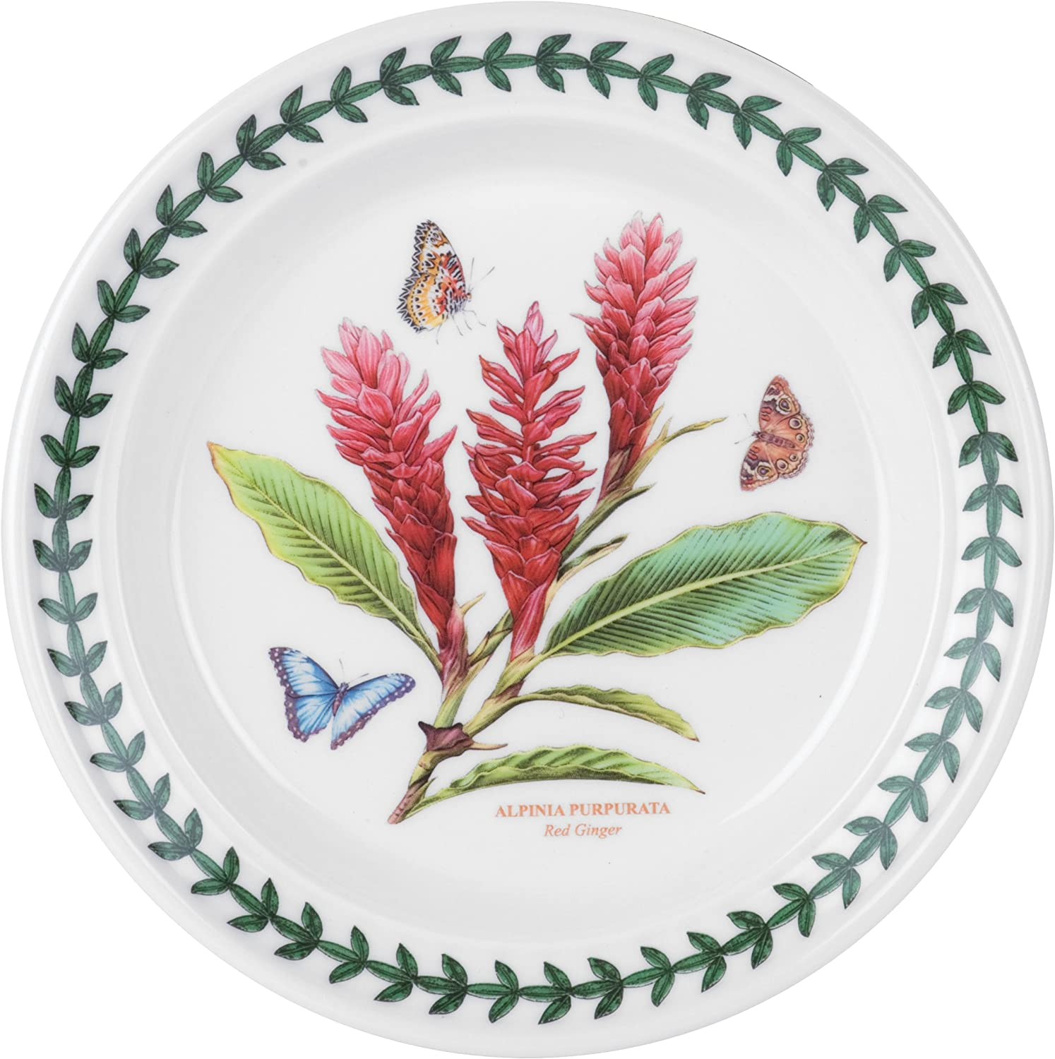 Portmeirion Exotic Botanic Garden Bread and Butter Plate with Red Ginger Motif