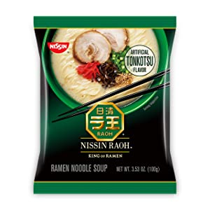 Nissin RAOH, Tonkotsu Flavor, Authentic Japanese-Style Ramen, 3.53 Ounce (Pack of 6)