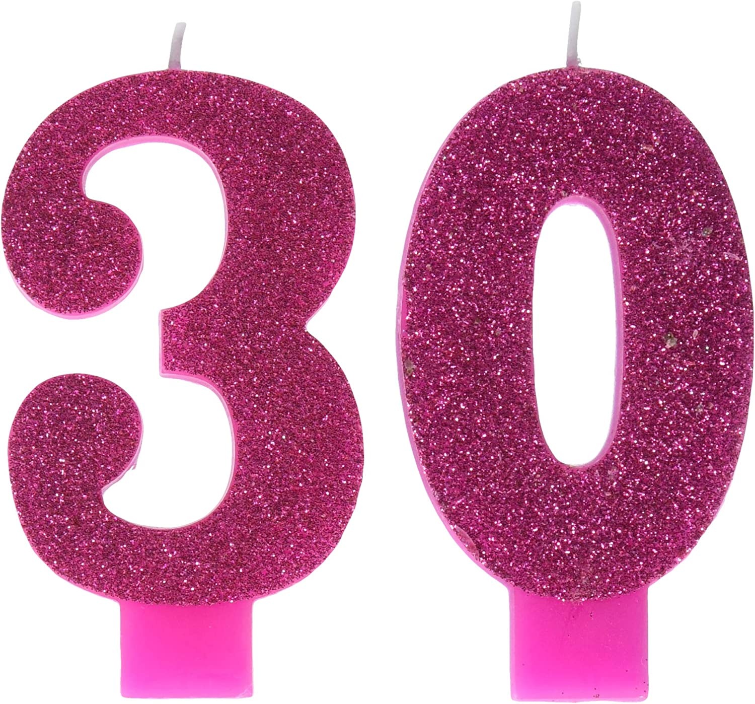 Amazon.com: Rosa y oro Milestone 30 Numeral Velas: Kitchen ...