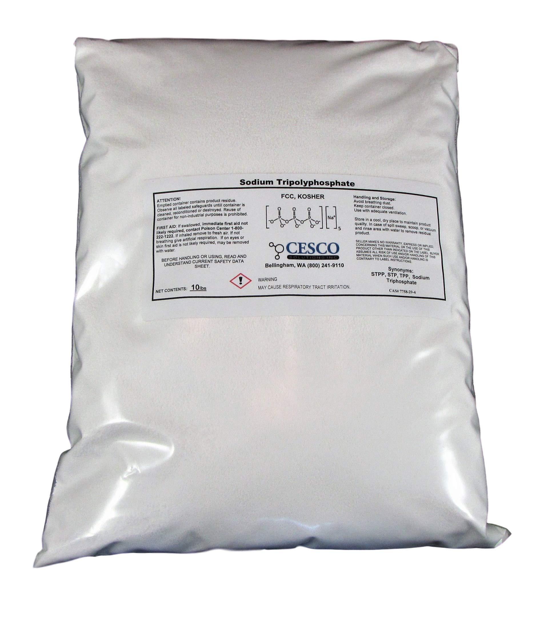 Sodium Tripolyphosphate STPP TPP STP Super Cleans 10 Lb Bulk Pack Tech Grade Light Dense