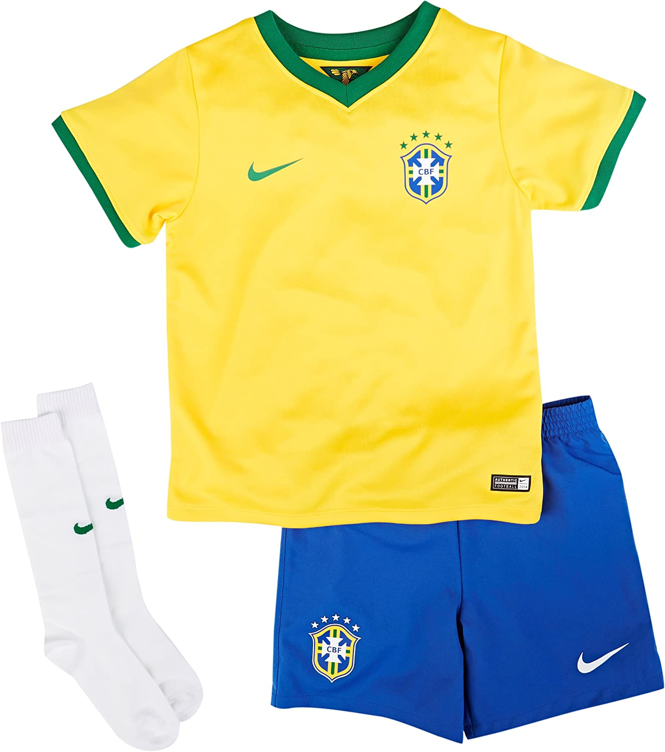 2014-15 Nike Brazil Home World Cup Mini Kit (Large)
