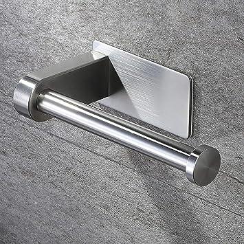 Klopapierhalter ohne Bohren Toilettenpapierhalter WC Klorollenhalter Edelstahl