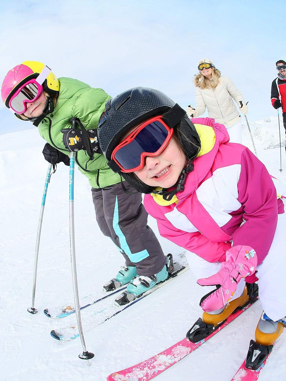 SATINIOR 2 Paires Mitaines de Neige /Épaisses denfants Mitaines de Ski Unisexes Imperm/éables Gants Chauds d/'Hiver pour Enfants /Âg/és de 2-4 Ans