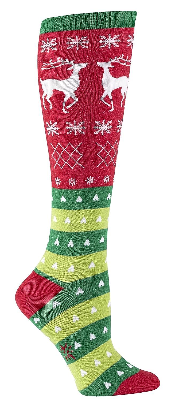 Amazon.com: Sock It To Me Tacky Holiday Sweater Knee High Socks ...