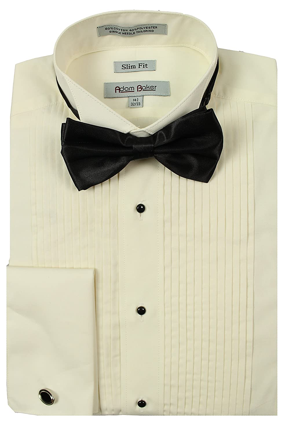 Slim Fit Ten Pleat Wing Collar Formal Tuxedo Shirt Bcd Tofu House