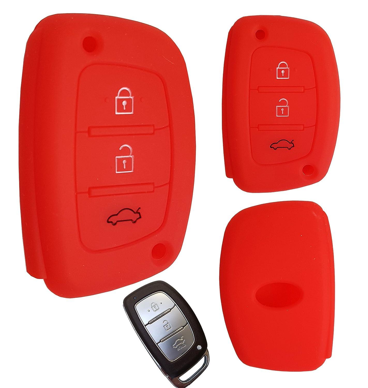 CK + Hyundai Clé Key Cover Étui Étui Coque en silicone de voiture pour I10I20ix25I30