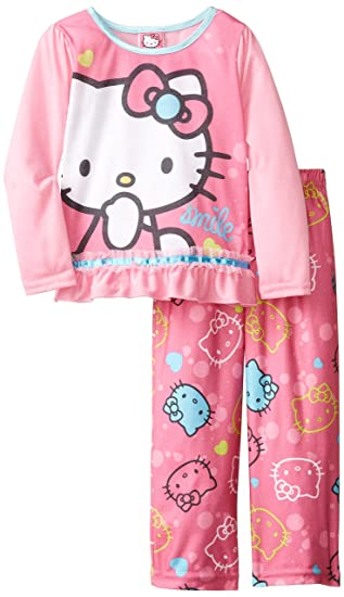 294fbe735 Amazon.com  AME Sleepwear Little Girls  Hello Kitty Pajama Set  Clothing