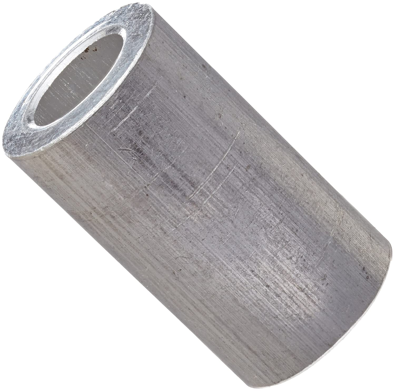 0.14 ID #6 Screw Size Round Spacer Pack of 10 Aluminum Plain Finish Made in US 5//16 OD 1//4 Length