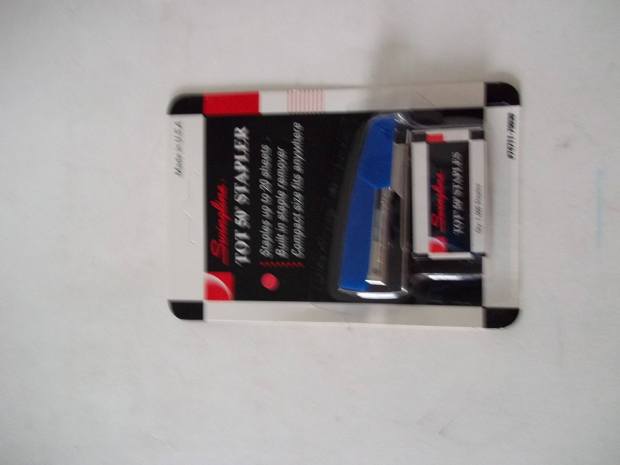 Swingline Tot 50 Stapler Blue Compact 1000 No. 10 Staples Included Made in USA Limit 1 Per Customer