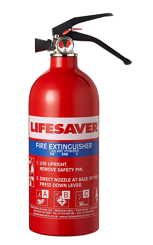 Kidde KIDLS1KG salvavidas multiuso Extintor ABC 1.0kg KS1KG