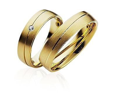 Anillos de compromiso o de amistad bañados en oro (P902) de 5 mm de
