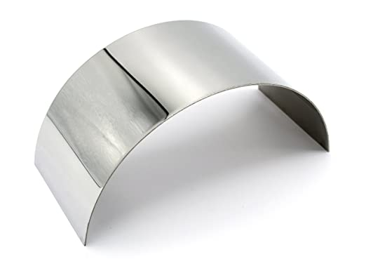 Eisco Labs 6.25 x 2.875-1mm Thick Approx Plane Half Cylinder Concave Stainless Steel Mirror for use with Ray Box