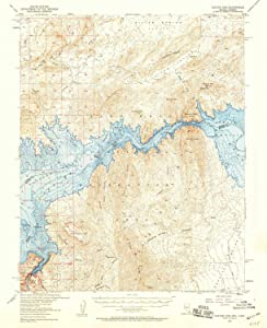 YellowMaps Hoover Dam AZ topo map, 1:62500 Scale, 15 X 15 Minute, Historical, 1953, Updated 1959, 20.8 x 16.9 in