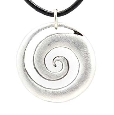 Pewter maori spiral koru peace and tranquility pendant on leather pewter maori spiral koru peace and tranquility pendant on leather necklace mozeypictures Images