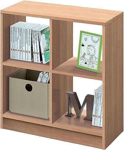 Estantería librería Biblioteca pequeña y Abierta Color Roble ...