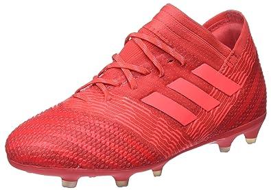 arrives d5226 fc625 adidas Nemeziz 17.1 FG, Chaussures de Football Mixte Enfant, Rouge  Reacor Redzes