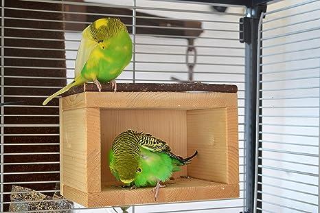 Bonita casa de madera para pájaros, para colocar en jaulas o ...