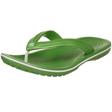 a85e2e3ce26e Crocs Unisex Crocband Flip Flop Green (Lime) 11033-320-007 7 UK ...
