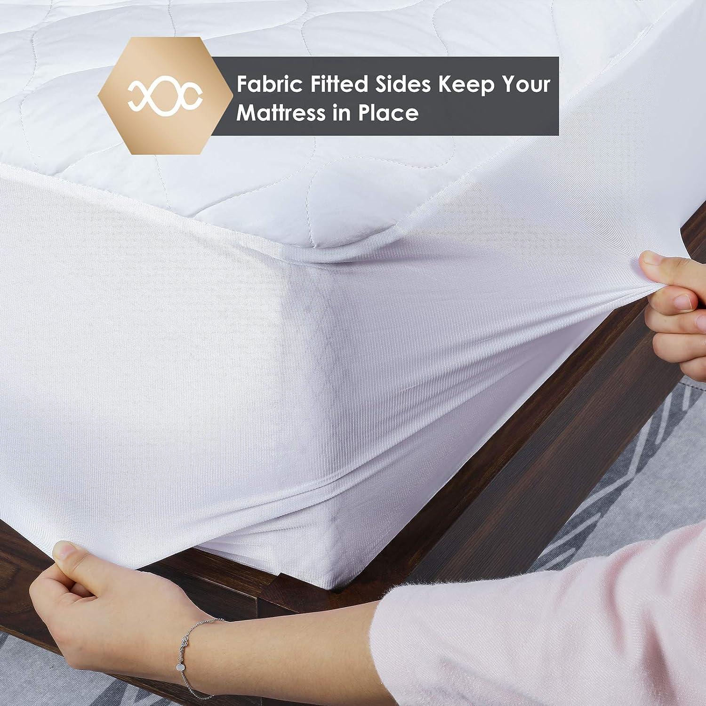 Materasso Fisso Cotone MVPower Scaldaletto Matrimoniale Elettrico 203X165CM Coprimaterasso Termico Impermeabile con 3 Livelli di Temperatura e Riscaldamento Rapido Spegnimento Automatico