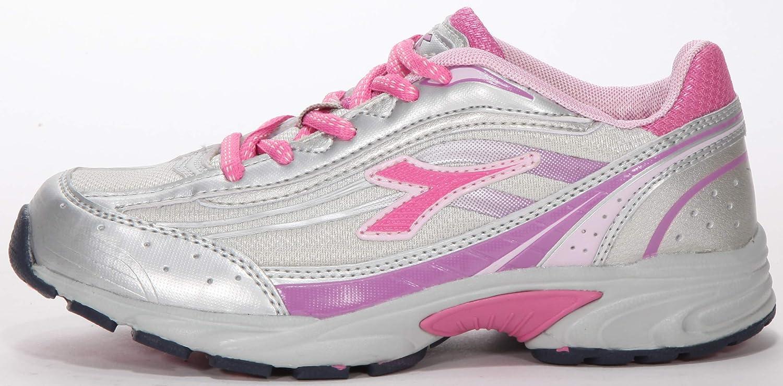 Diadora Poker JR - Zapatillas de Running para niña Plateado, Rosa, Violeta, Color Plateado, Talla 37 EU: Amazon.es: Zapatos y complementos