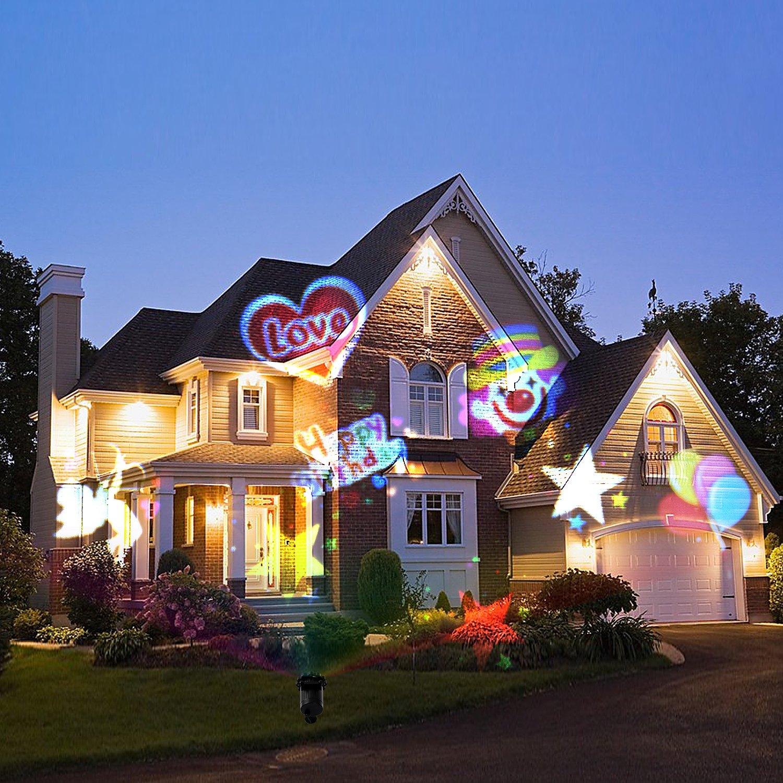 Weihnachten LED Projektor Lampe mit 16 Austauschbare Patterns und RF ...