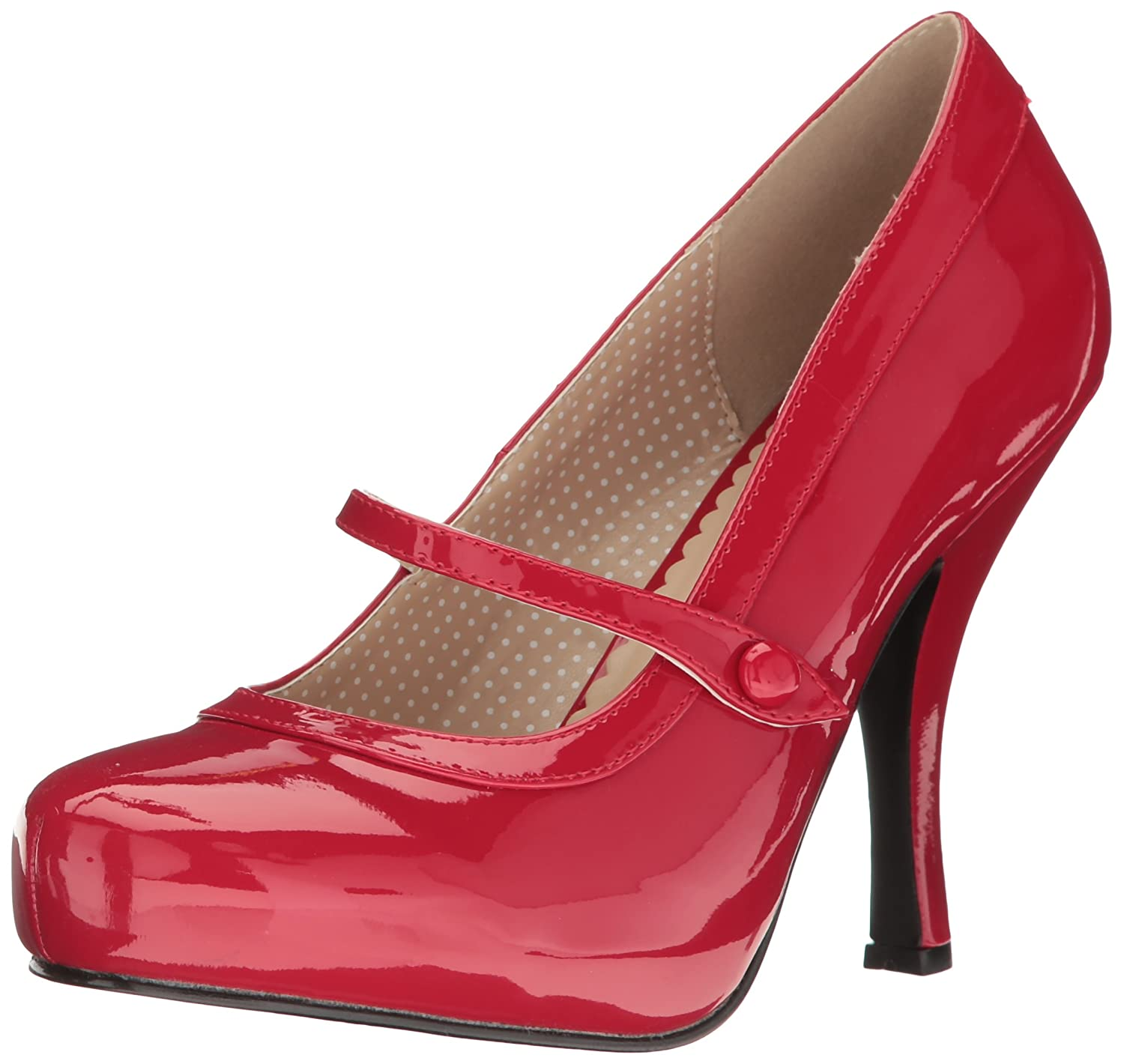 Pleaser Women's Pinup01/r Platform Pump B06XH3BDWP 15 B(M) US|Red Patent