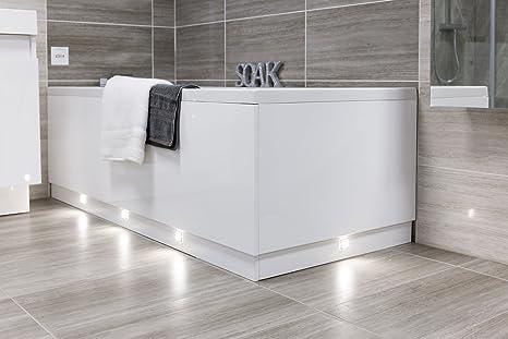 Vasca Da Bagno Su Misura : Pannello laccato bianco e lucido per vasca da bagno regolabile