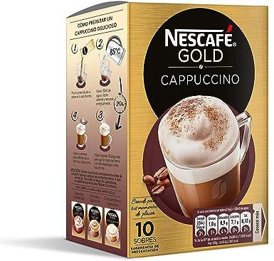 Nescafé Café Cappuccino Caja de sobres de café - 10 sobres de 14 ...
