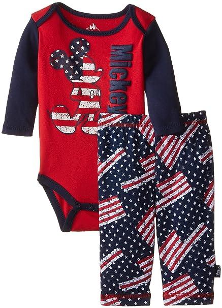 79044f46c4f1 Amazon.com  Disney Baby Boys  Mickey Mouse Boy Bodysuit and Pant Set ...