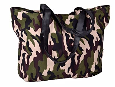 Amazon.com  Womens Shopper Shoulder Bag Tote Bag in Army Camouflage Print  Pattern 50x30 cm  Shoes fd6075a093